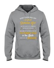 DON'T EVER PISS OFF A SHORT SEPTEMBER GIRL Hooded Sweatshirt thumbnail