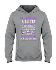 I'M A AUGUST GIRL A LITTLE SMART ASS Hooded Sweatshirt thumbnail