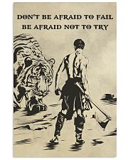 Don't be afraid to fail be afraid not to try 16x24 Poster front