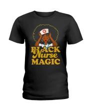 Black nurse Magic Ladies T-Shirt thumbnail