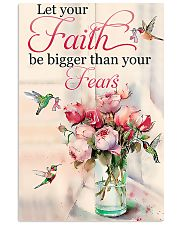 Let Your Faith Be Bigger Than Your Fears 11x17 Poster front