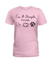 simple nurse Ladies T-Shirt front