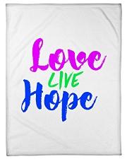 "Love Live Hope Small Fleece Blanket - 30"" x 40"" thumbnail"