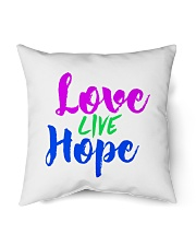 """Love Live Hope Indoor Pillow - 16"""" x 16"""" thumbnail"""