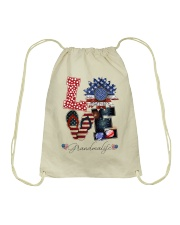 Flag Love Grandmalife Sunflower Drawstring Bag thumbnail