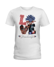 Flag Love Grandmalife Sunflower Ladies T-Shirt thumbnail