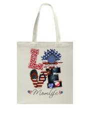 Flag Love Momlife Sunflower Tote Bag thumbnail