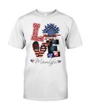 Flag Love Momlife Sunflower Classic T-Shirt thumbnail