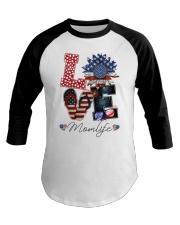 Flag Love Momlife Sunflower Baseball Tee thumbnail
