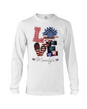 Flag Love Momlife Sunflower Long Sleeve Tee thumbnail