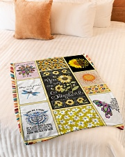 "Hippie Blanket Small Fleece Blanket - 30"" x 40"" aos-coral-fleece-blanket-30x40-lifestyle-front-01"