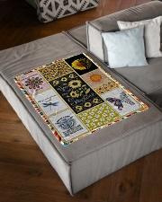 "Hippie Blanket Small Fleece Blanket - 30"" x 40"" aos-coral-fleece-blanket-30x40-lifestyle-front-03"