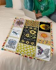 "Hippie Blanket Small Fleece Blanket - 30"" x 40"" aos-coral-fleece-blanket-30x40-lifestyle-front-07"