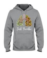 Just breathe Hooded Sweatshirt tile