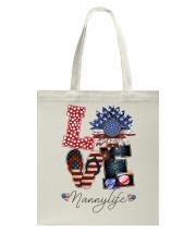 Flag Love Nannylife Sunflower Tote Bag thumbnail