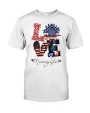 Flag Love Nannylife Sunflower Classic T-Shirt thumbnail