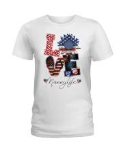Flag Love Nannylife Sunflower Ladies T-Shirt thumbnail