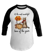 Autumn Cats Baseball Tee thumbnail