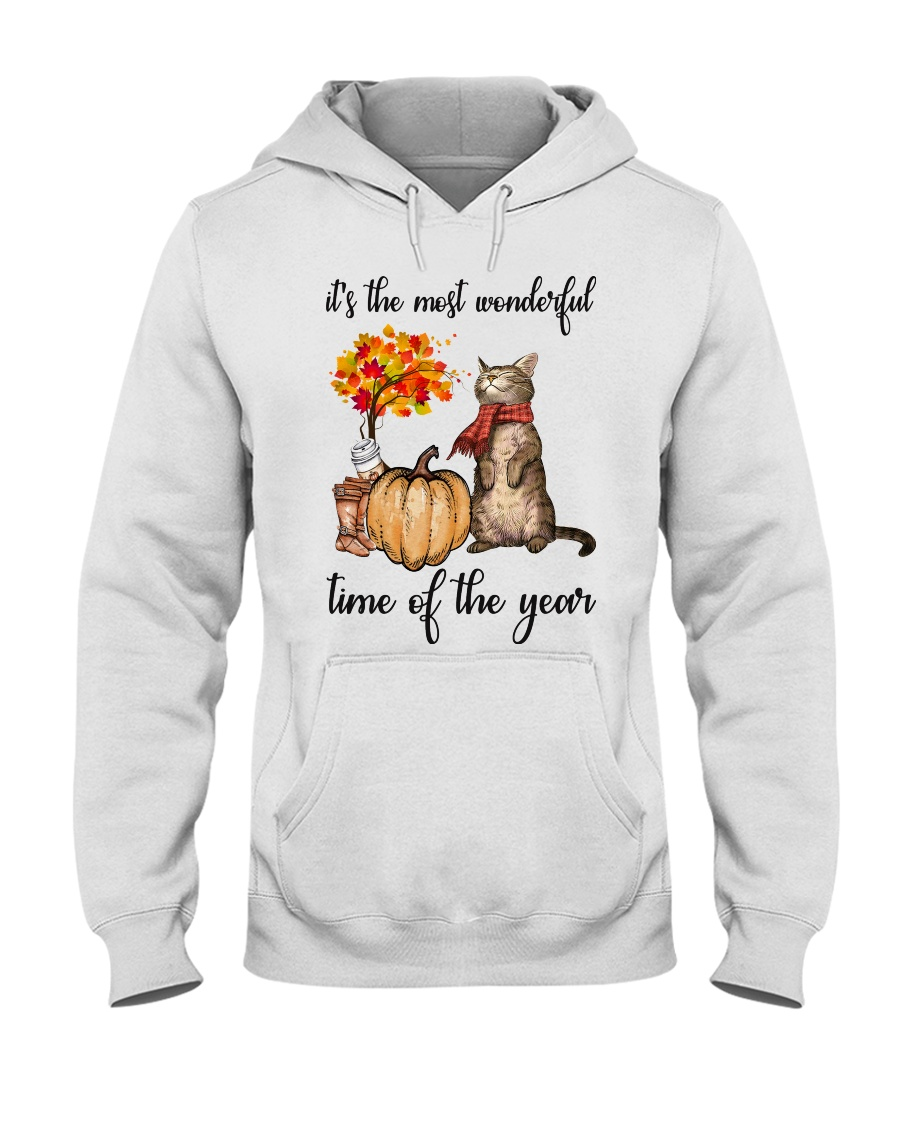 Autumn Cats Hooded Sweatshirt