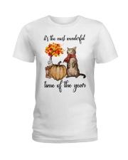 Autumn Cats Ladies T-Shirt thumbnail
