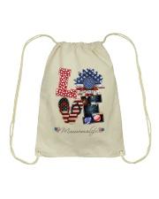 Flag Love Mauwmalife Sunflower Drawstring Bag thumbnail