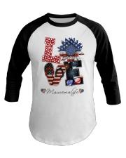 Flag Love Mauwmalife Sunflower Baseball Tee thumbnail