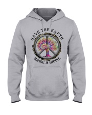 Save the earth raise a hippie Hooded Sweatshirt front