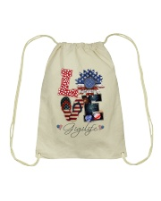 Flag Love Gigilife Sunflower Drawstring Bag thumbnail