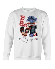 Flag Love Gigilife Sunflower Crewneck Sweatshirt thumbnail