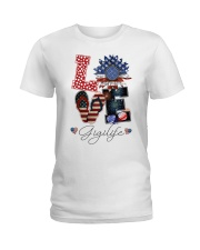 Flag Love Gigilife Sunflower Ladies T-Shirt thumbnail