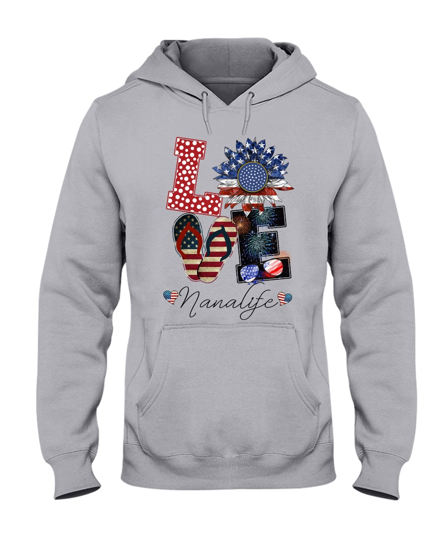 Flag Love Nanalife Sunflower Hooded Sweatshirt