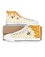 Limited edition Women's High Top White Shoes inside-left-outside-left