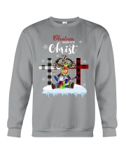 Christmas begins with Christ Crewneck Sweatshirt thumbnail