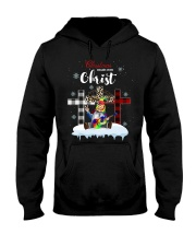 Christmas begins with Christ Hooded Sweatshirt thumbnail