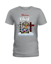 Christmas begins with Christ Ladies T-Shirt tile