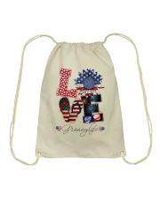 Flag Love Grannylife Sunflower Drawstring Bag thumbnail