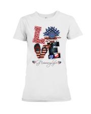 Flag Love Grannylife Sunflower Premium Fit Ladies Tee thumbnail