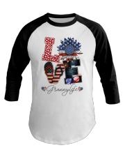 Flag Love Grannylife Sunflower Baseball Tee thumbnail