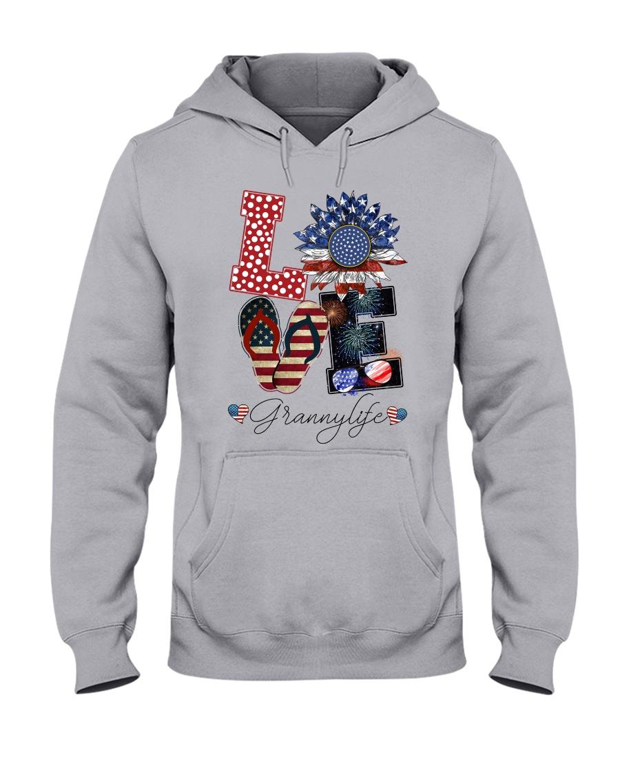 Flag Love Grannylife Sunflower Hooded Sweatshirt