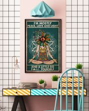 I'm mostly peace love and light 11x17 Poster lifestyle-poster-6
