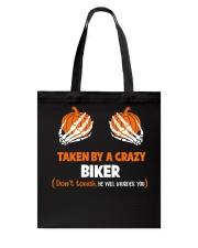 Taken by a crazy biker Tote Bag thumbnail