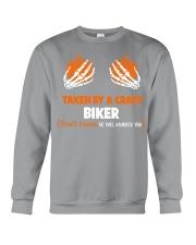Taken by a crazy biker Crewneck Sweatshirt thumbnail