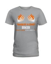 Taken by a crazy biker Ladies T-Shirt thumbnail