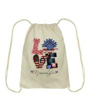 Flag Love Mimilife Sunflower Drawstring Bag thumbnail