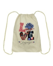 Flag Love Yayalife Sunflower Drawstring Bag thumbnail