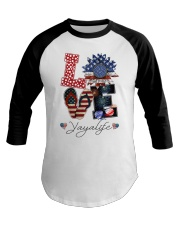 Flag Love Yayalife Sunflower Baseball Tee thumbnail