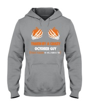 Taken by a crazy October guy Hooded Sweatshirt tile