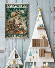 A girl and her cat living life in peace 11x17 Poster lifestyle-holiday-poster-2