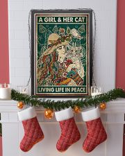A girl and her cat living life in peace 11x17 Poster lifestyle-holiday-poster-4