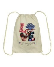 Flag Love Grammylife Sunflower Drawstring Bag tile